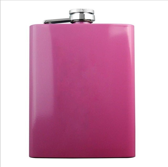 Rose Pink 8oz Hip Flask Women Portable Stainless Steel Flagon Pocket Flask For Whiskey With Gift Box