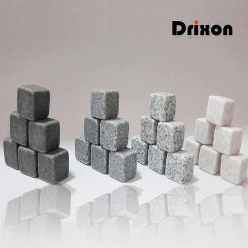 Drixon 100% Natural Whiskey Stones Sipping Ice Cube Whisky Stone Whisky Rock Cooler Wedding Gift Favor Christmas Bar