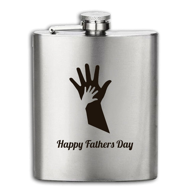 2018 New arrival bpa free 7oz whisky Imprint vodka flagon cccp Stainless steel alcohol liquor hip flask father's day gift
