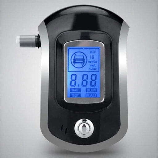 Alcohol Tester Professional Digital Breathalyzer Breath Analyzer with Large Digital LCD Display 5 Pcs Mouthpieces