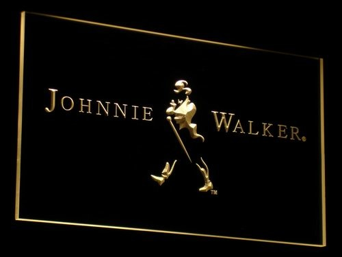 Johnnie Walker Whiskey Wine Bar LED Neon Light Signs with On/Off Switch 20+ Colors 5 Sizes to choose
