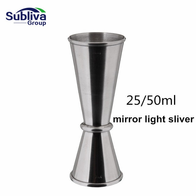 Cocktail Bar Jigger Stainless Steel Japanese Design Jigger Double Spirit Measuring Cup Bartender