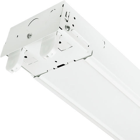 T8 4ft 2-Lamp Strip Fixture Housing