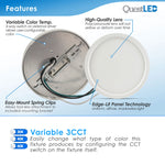 "LED 5"" Inch 10W Surface Mount Fixture Dimmable"