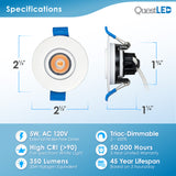 "2"" Adjustable Downlight With Junction Box (Canless Module)"