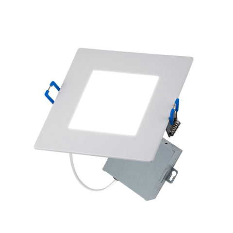 "LED 4"" INCH SQUARE WAFER CANLESS DOWNLIGHT CCT SWITCH 3000K, 4000K, 5000K"