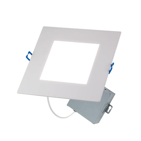 "LED 6"" Inch Square Wafer Downlight CCT Switch 3000K, 4000K, 5000K"