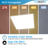 LED 1X1 18W Surface Mount Panel Dimmable