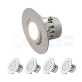 LED 4-Inch 10W Dimmable Retrofit Gimbal Downlight
