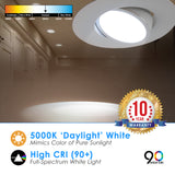 "LED 5/6"" Inch Retrofit Gimbal Downlight 15W Dimmable"