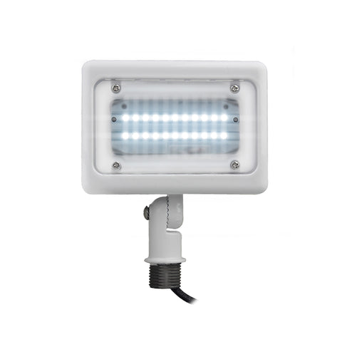 Mini 15W Flood/Landscape Fixture TRI COLOR 3000K, 4000K, 5000K- White Finish