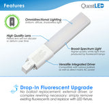 LED PL LAMP GX235 DROP-IN FLUORESCENT REPLACEMENT
