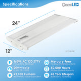 LED 2ft Linear Highbay Dimmable 4000K Frosted Lens