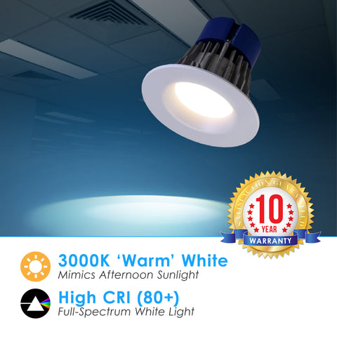 LED 4-Inch 10W Dimmable Retrofit Downlight (120-277V)