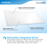 LED 2X4 60W Edge Lit Panel Dimmable