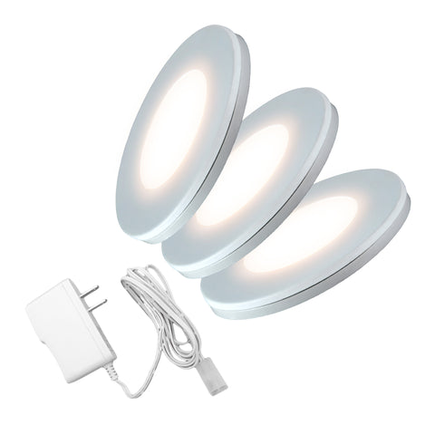 LED Puck Light 3W (3 Pack/ Transformer)