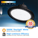 LED UFO Highbay 150W Dimmable 0-10v Bronze Finish 5000K