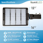 LED Area Light Fixture 240W