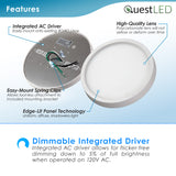 "LED 7"" Inch 15W Flush Mount Fixture Dimmable"