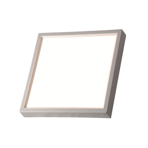 "LED 7"" Inch Square 15W Flush Mount Fixture Dimmable"