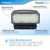 LED Wall Pack Adjustable Cutoff Non-Dimmable 5000K