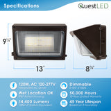 LED Wall Pack Dimmable 5000K