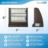 LED Double Rotating Wall Pack 80W Non-Dimmable