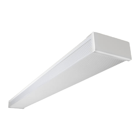 4FT LED Linear 40W Prismatic Lens Commercial Ceiling Wraparound Garage Light/Shop Light/Office Light 5000K