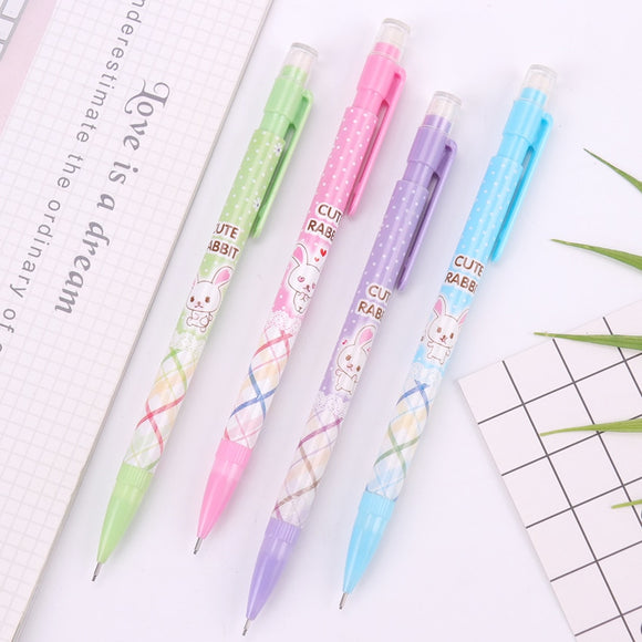 3PC Cute Rabbit Mechanical Pencil With Eraser-my kawaii office