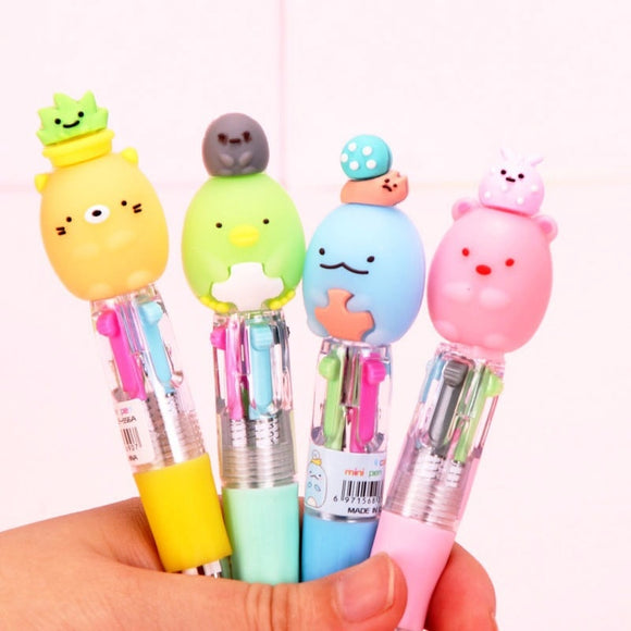 2PC Kawaii Mini 4 Colors Ballpoint Pen-my kawaii office