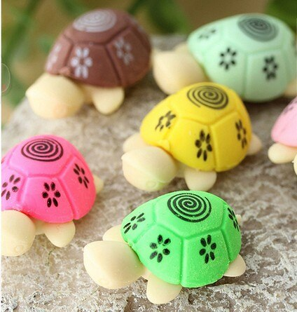 2PC Kawaii Turtle Rubber Eraser-my kawaii office