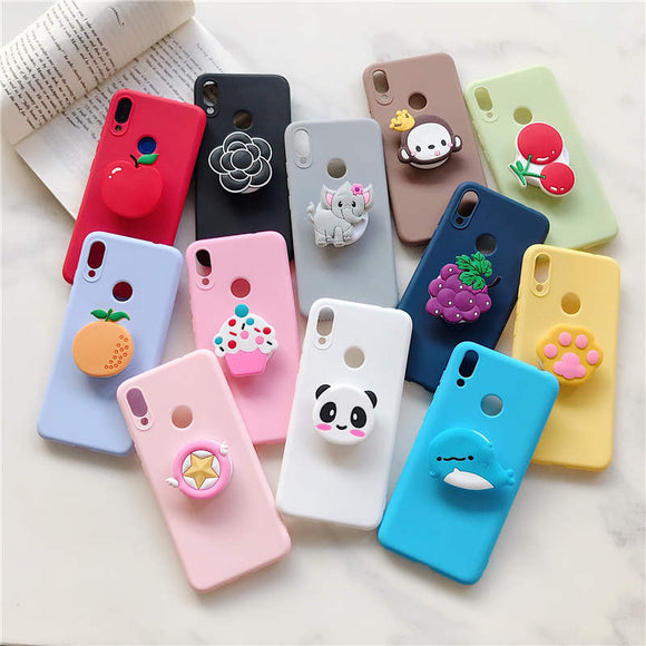 1PC Kawaii 3D Characters with Holder Stand iPhone Case-my kawaii office