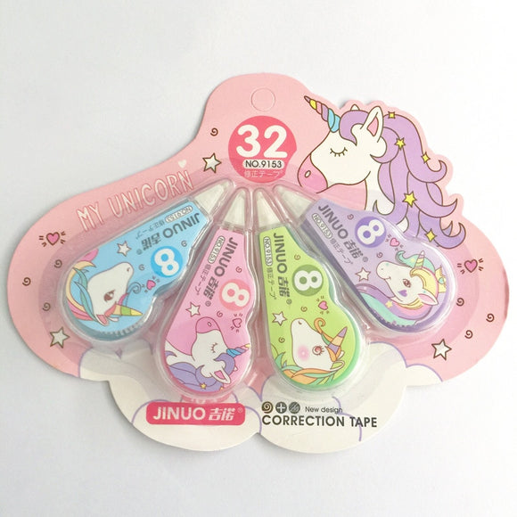 4PC Cute Unicorn Correction Tape-my kawaii office