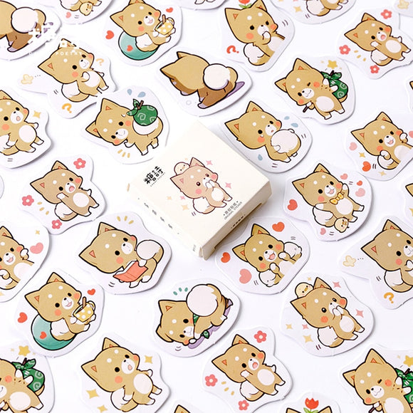 45PC Kawaii Shiba Inu Diary Planner Stickers-my kawaii office