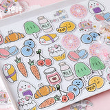 45pcs/lot Diy Diary Sticker Lovely Donut Fruits Handbook Decoration Cute Sticker Label Scrapbooking Stickers-my kawaii office