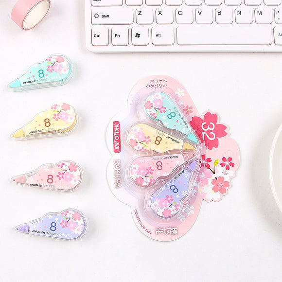 4PC Kawaii Sakura Correction Tape-my kawaii office