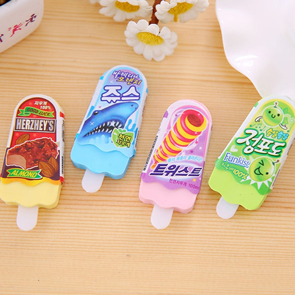 4PC Summer Ice Cream Eraser Set-my kawaii office