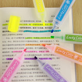 6PC Candy Color Neon Highlighters-my kawaii office