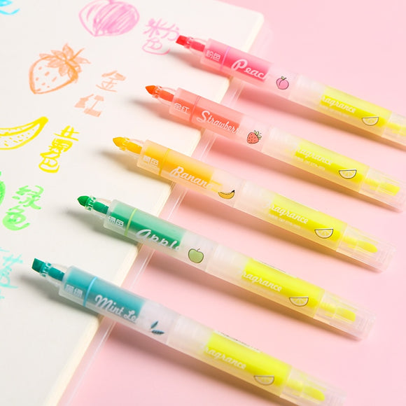 8PC Fruit Scented Highlighter-my kawaii office