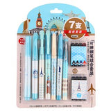 15PC Fountain and Erasable Pen plus Refills Set-my kawaii office