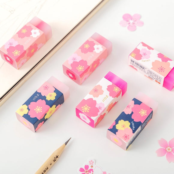 1PC Cherry Sakura Rubber Eraser-my kawaii office