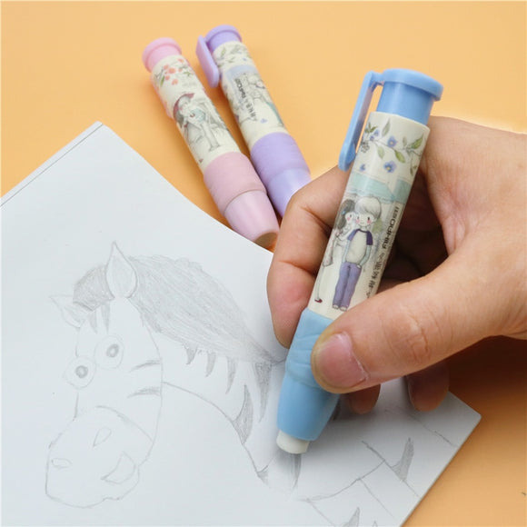1PC Cute Designer Pen Shape Eraser-my kawaii office