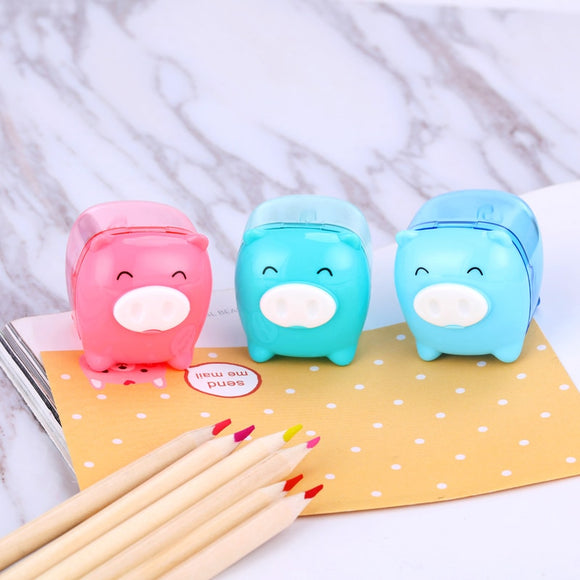 1PC Little Pig Candy Color Pencil Sharpener