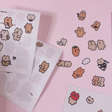 1PC Funny Little Bear Decoration Stickers-my kawaii office