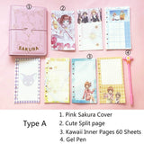 1PC Kawaii Sakura Loose-leaf Diary Notebook-my kawaii office