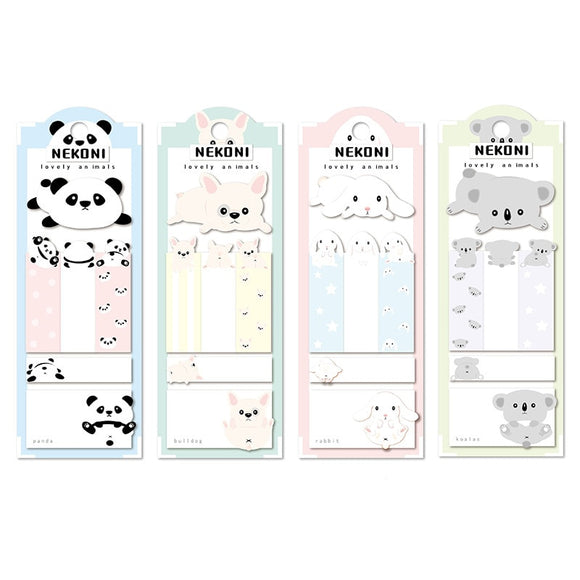 Kawaii Dog Rabbit Short-Term Label N Times Memo Pad Sticky Notes Escolar Papelaria School Supply Bookmark Label-my kawaii office