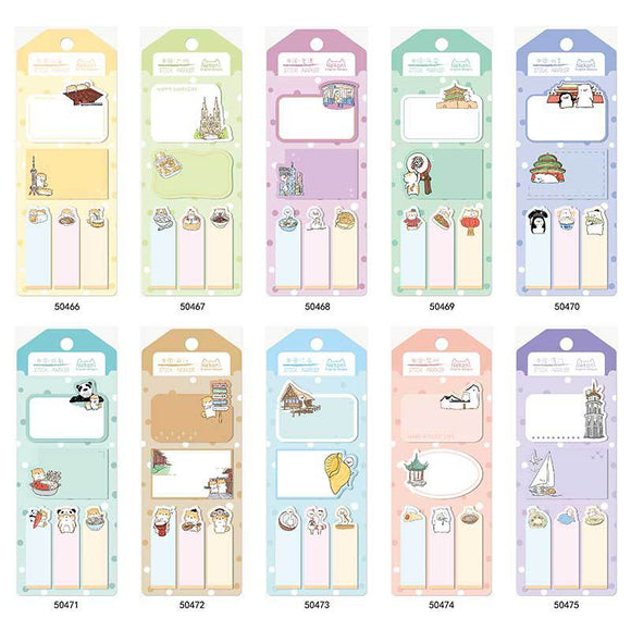 Korean Import NeKoni Travel Chinese City Sticky Notes Memo Pad Sheet To Do List Planner Sticker Scrapbook Supply-my kawaii office