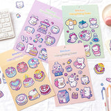 Lovely Meng Meng Bear Stickers Scrapbooking Decorative Sticker Korean DIY Diary Album Stick Label Kawaii Stationery-my kawaii office