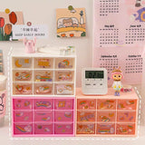 1PC Multifunctional 9 Drawer Desk Organizer-my kawaii office