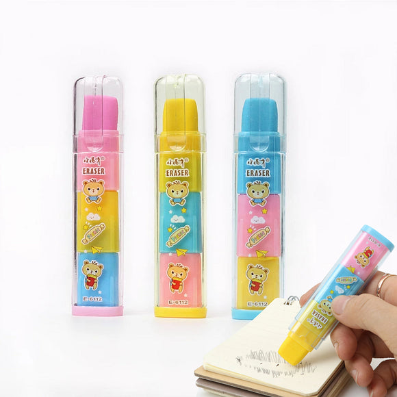 1PC Three Layers Rainbow Fruit-Scented Eraser-my kawaii office